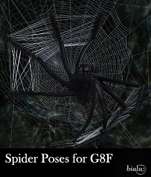 Spider Poses for G8F 3D Figure Assets biala