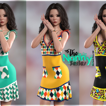 The Nanny Series: Elin Candy Dress G8F image 2