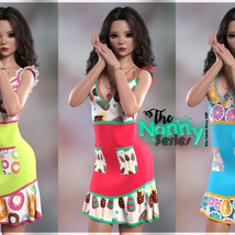 The Nanny Series: Elin Candy Dress G8F image 3