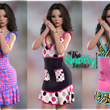 The Nanny Series: Elin Candy Dress G8F image 4