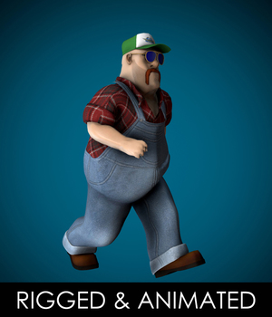 Mr Globetrotter Male Character PRO - Extended License 3D Game Models : OBJ : FBX 3D Models Extended Licenses TunnelVision