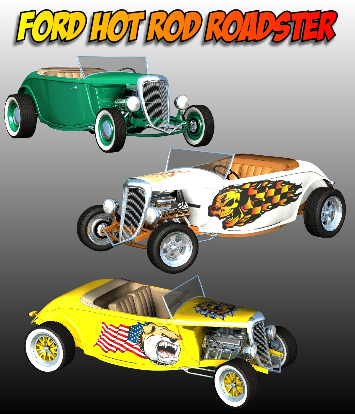 FORD HOT ROD ROADSTER by 3DClassics