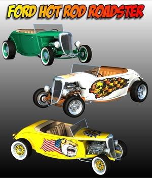 FORD HOT ROD ROADSTER 3D Models 3DClassics