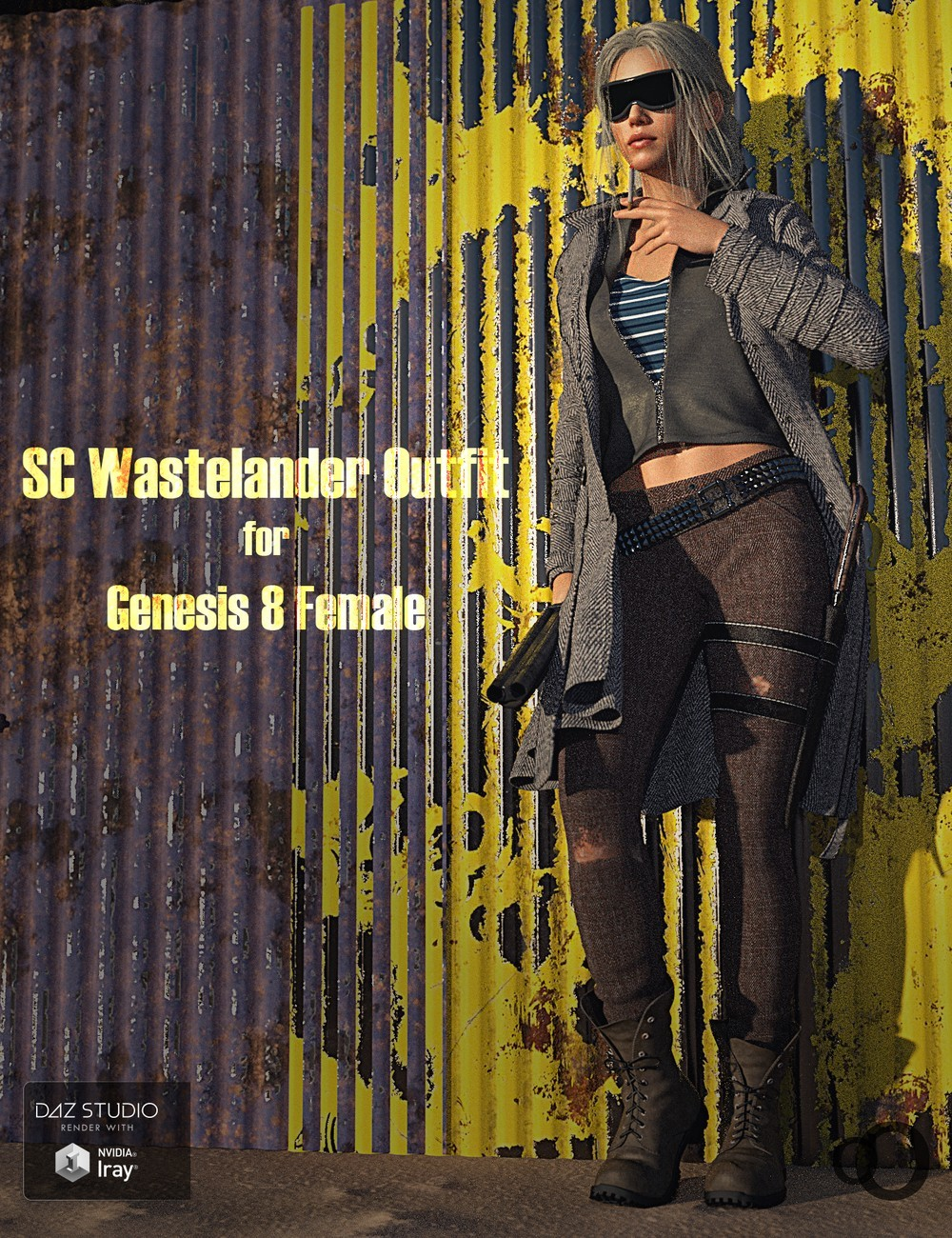 SC Wastelander Outfit for Genesis 8 Female by secondcircle