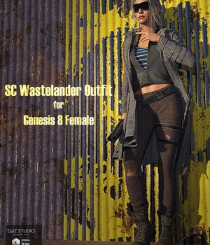 SC Wastelander Outfit for Genesis 8 Female