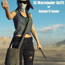 SC Wastelander Outfit for Genesis 8 Female image 3