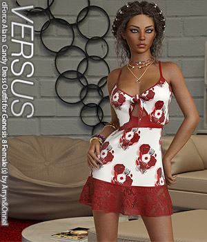 VERSUS - dForce Alana Candy Dress for Genesis 8 Females 3D Figure Assets Anagord