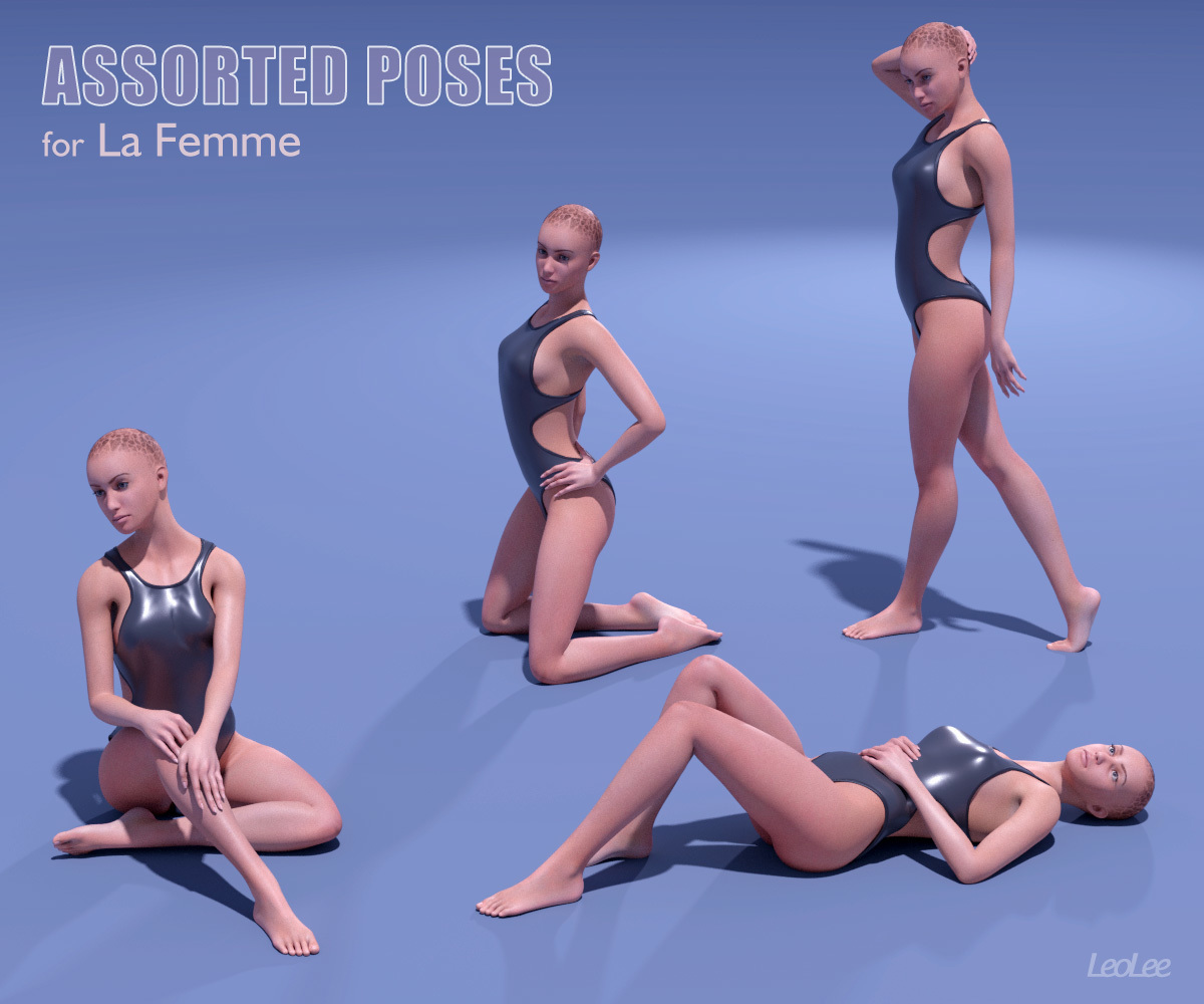 Assorted Poses for La Femme by LeoLee