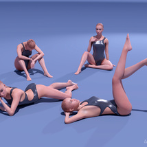 Assorted Poses for La Femme image 3