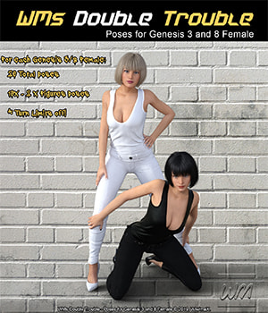 WMs Double Trouble - Poses for Genesis 3 and 8 Female 3D Figure Assets WiwimaX