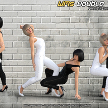 WMs Double Trouble - Poses for Genesis 3 and 8 Female image 1