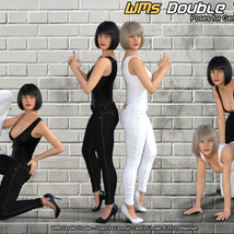 WMs Double Trouble - Poses for Genesis 3 and 8 Female image 2