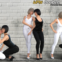 WMs Double Trouble - Poses for Genesis 3 and 8 Female image 3