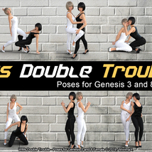 WMs Double Trouble - Poses for Genesis 3 and 8 Female image 4