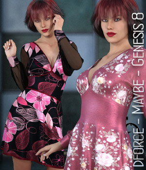 dforce - Maybe - Genesis 8 3D Figure Assets kaleya