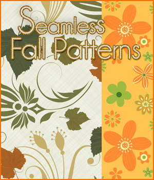 Seamless Fall Patterns 2D Graphics Merchant Resources antje
