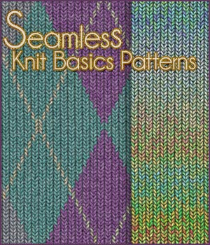 Seamless Knit Basics Patterns 2D Graphics Merchant Resources antje