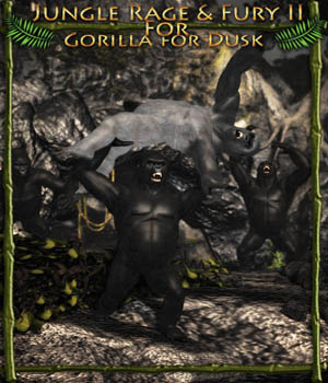 Jungle Rage and Fury II for HiveWire Gorilla 3D Figure Assets theKageRyu