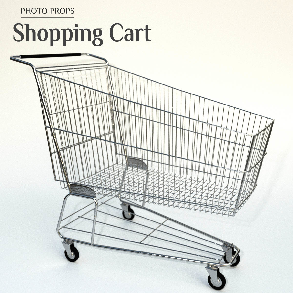 Photo Props: Shopping Cart by ShaaraMuse3D