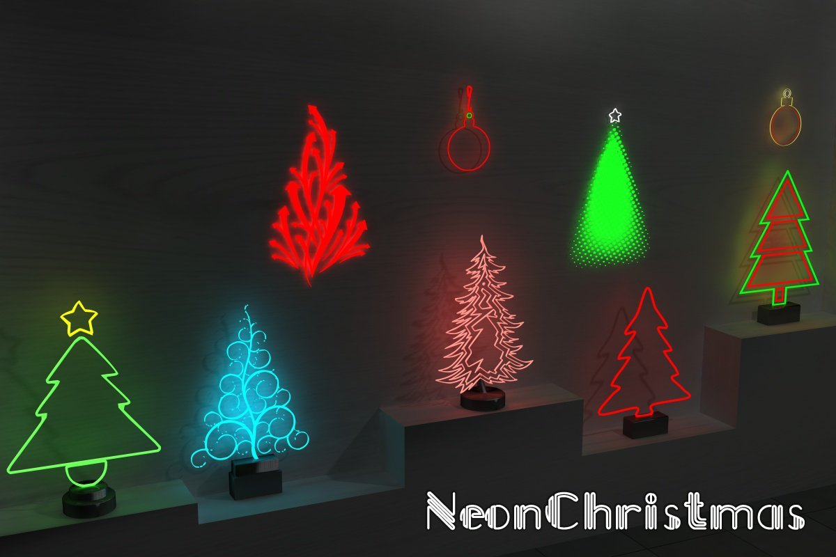 Neon Christmas - Extended License by greenpots