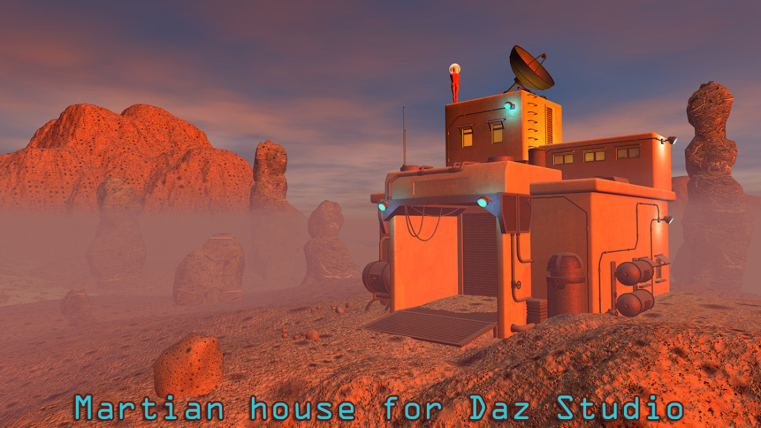 Martian house for Daz Studio by 1971s