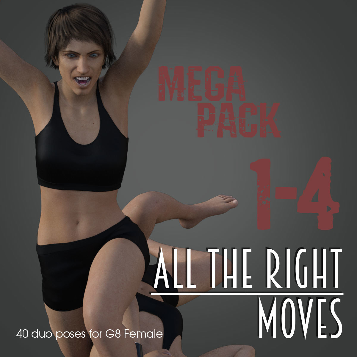 ALL THE RIGHT MOVES vol.1-4 MEGAPACK for Genesis 8 Female by PainMD