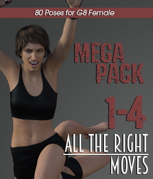 ALL THE RIGHT MOVES vol.1-4 MEGAPACK for Genesis 8 Female 3D Figure Assets PainMD
