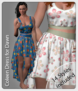 Coleen Set and 14 Styles for Dawn 3D Figure Assets karanta