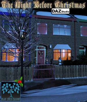Night Before Christmas for DAZ|Studio 3D Models BlueTreeStudio