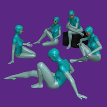 20 Sitting Poses for G8F image 2