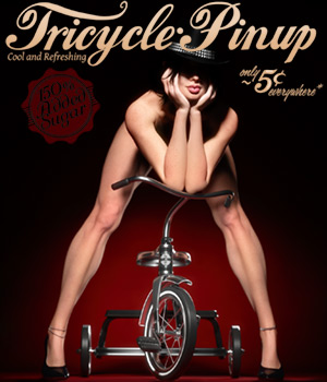 Tricycle Pinup for La Femme 3D Figure Assets 3D Models La Femme Pro - Female Poser Figure Blackhearted