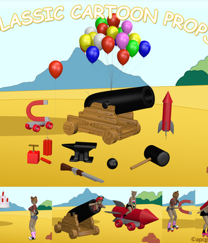 Classic Cartoon Props 3D Models apcgraficos