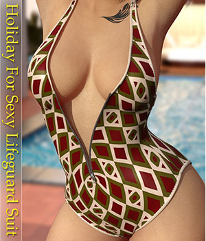 Holiday for Sexy Lifeguard Suit 3D Figure Assets Belladzines