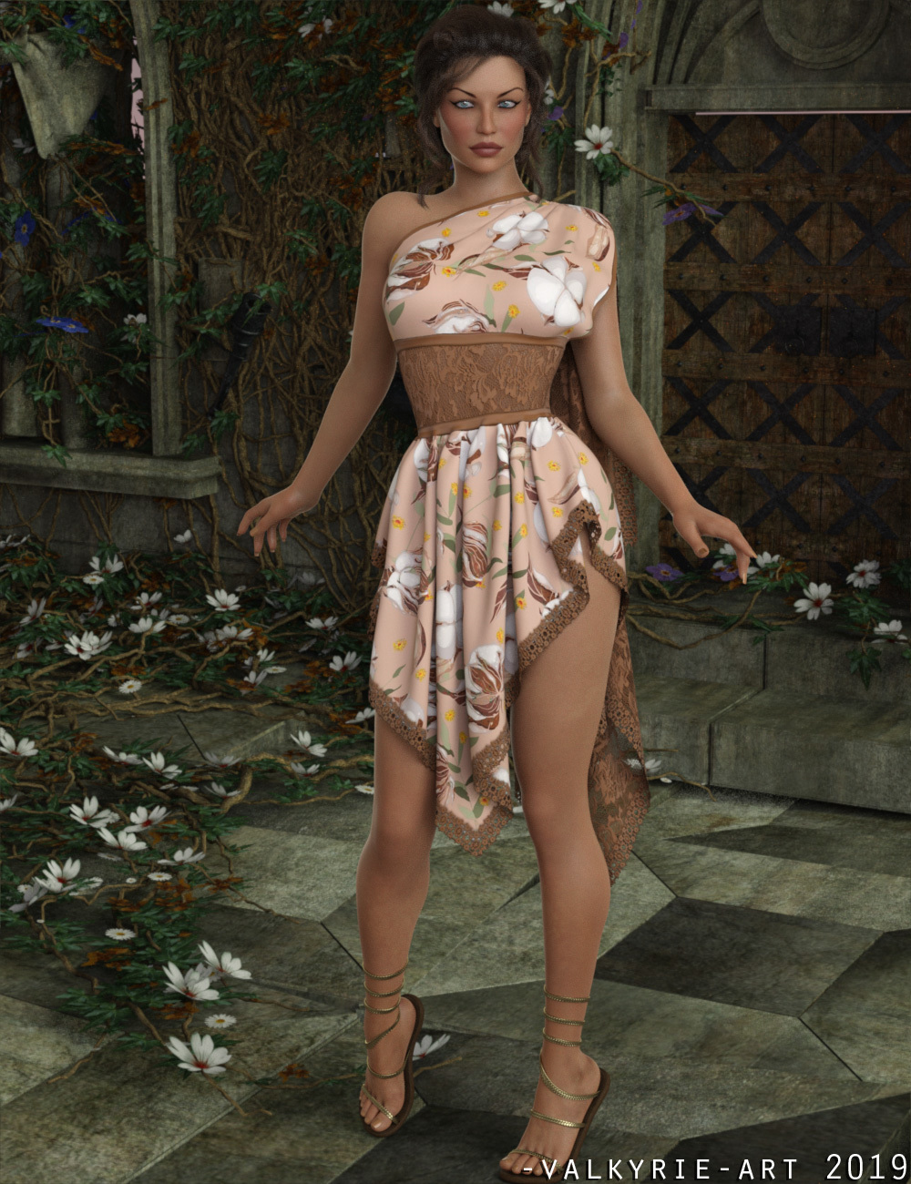 InStyle - dForce - Flora Dress for G8F by -Valkyrie-
