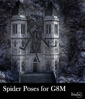 Spider Poses for G8M 3D Figure Assets biala