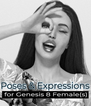Photo Booth Poses for Genesis 8 Female(s) 3D Figure Assets zoro_d