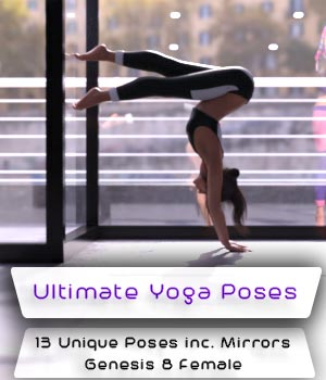 Ultimate Yoga Poses Set 1 3D Figure Assets parmy1985