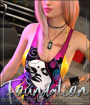 Foundation for dForce Sexy Tank Top for Genesis 8 Female(s) 3D Figure Assets ShanasSoulmate