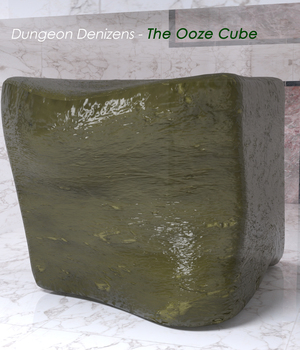 Dungeon Denizens - The Ooze Cube 3D Figure Assets 3D Models Cobbler3D