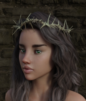 Crown of Thorns for Genesis 3 and 8 Female 3D Figure Assets TheNextLevel01