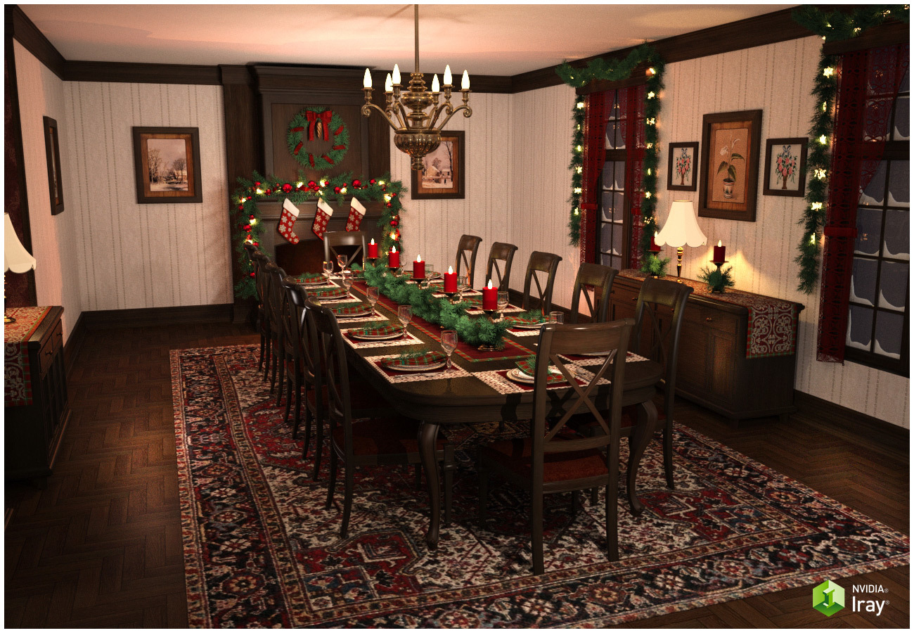 Christmas Dining Room by RPublishing
