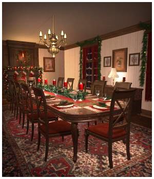 Christmas Dining Room 3D Models RPublishing