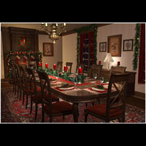 Christmas Dining Room image 5