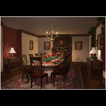 Christmas Dining Room image 6