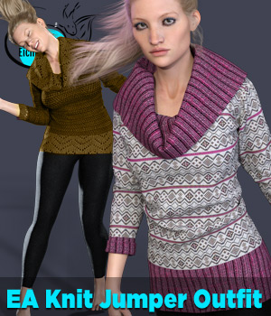 EA dforce Knit Jumper Outfit for Genesis 8 Female  3D Figure Assets EichhornArt
