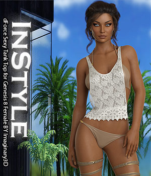 InStyle - dForce Sexy Tank Top for Genesis 8 Female 3D Figure Assets -Valkyrie-