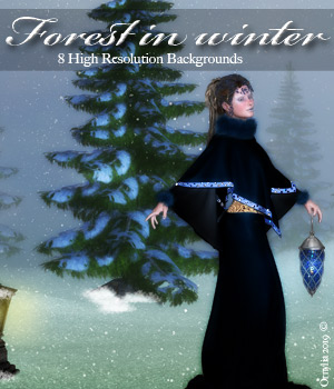 Forest in winter 2D Graphics ornylia