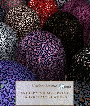 Modern Animal Print Fabric Iray Shaders