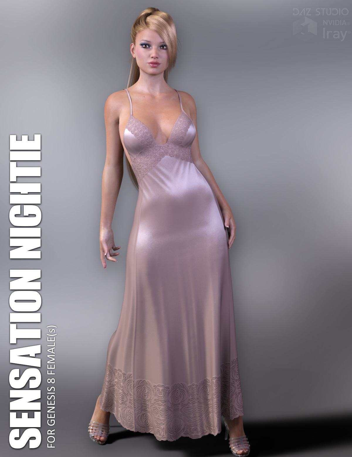 dForce Sensation Nightie for Genesis 8 Females by lilflame
