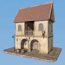 Blaviken houses set for Daz Studio image 2